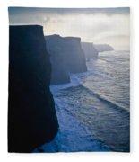 Cliffs Of Moher,co Clare,irelandview Of Fleece Blanket