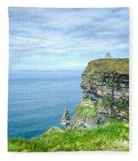 Cliffts Of Moher 1 Fleece Blanket