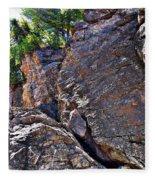 Climbing Rocks And Trees Fleece Blanket