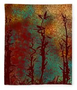 Climbing Unknown Horizons Fleece Blanket
