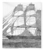 Clipper Ship, 1850 Fleece Blanket