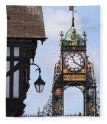 Clock In Chester Fleece Blanket