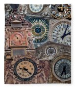 Clocks Of Paris Fleece Blanket