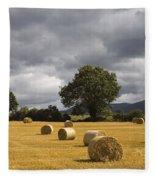 Clogheen, County Tipperary, Ireland Hay Fleece Blanket