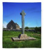Cloncra Church, Inishowen Peninsula Fleece Blanket