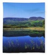 Clonee Loughs Co Kerry, Ireland Lake Fleece Blanket