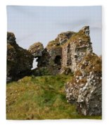 Clonmacnoise Castle Ruin - Ireland Fleece Blanket