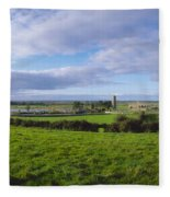 Clonmacnoise, Co Offaly, Ireland Fleece Blanket
