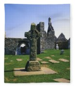Clonmacnoise, Co Offaly, Ireland, West Fleece Blanket