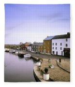 Cloondara, Co Longford, Ireland Town At Fleece Blanket