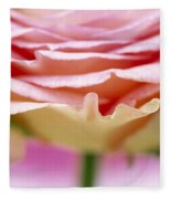 Close Up Of Rose Showing Petal Detail Fleece Blanket