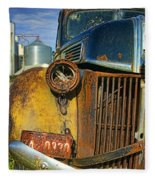 Close Up Of Rusty Truck Fleece Blanket
