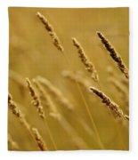 Close-up Of Wheat Fleece Blanket