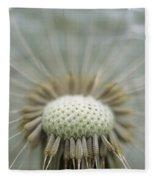 Closeup Of Dandelion Seed Head Fleece Blanket