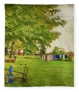 Clothes On The Line Fleece Blanket