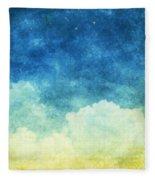 Cloud And Sky Fleece Blanket
