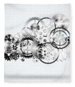 Cloud Made By Gears Wheels  Fleece Blanket