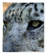 Clouded Leopard Face Fleece Blanket