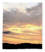 Clouds Afire Fleece Blanket