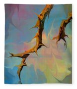 Clouds And Branches Of Life Fleece Blanket