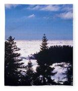 Clouds At Sequoia National Park Fleece Blanket