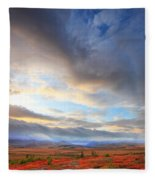 Clouds At Sunrise At The Arctic Circle Fleece Blanket