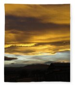 Clouds Illuminated At Sunset Fleece Blanket