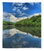 Clouds In The Lake Fleece Blanket
