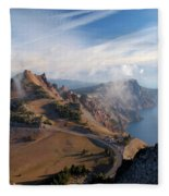 Clouds On The Ridge Fleece Blanket