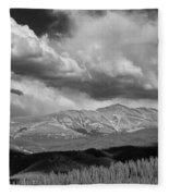 Clouds Over Breckenridge Colorado Fleece Blanket