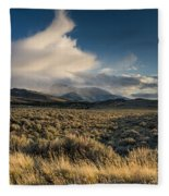 Clouds Over East Humboldts Fleece Blanket
