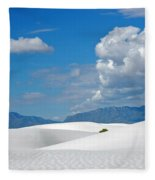 Clouds Over The White Sands Fleece Blanket