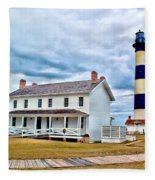 Cloudy At Bodie Fleece Blanket