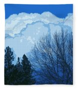 Cloudy Blue Dream Fleece Blanket