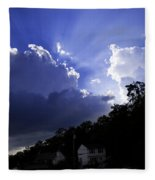 Cloudy With A Chance Of Sunshine Fleece Blanket