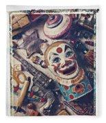 Clown Bank Fleece Blanket