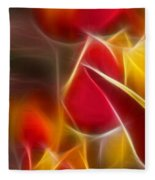 Cluisiana Tulips Triptych Panel 1 Fleece Blanket