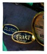 Clutch And Brake Fleece Blanket