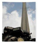 Cn Tower And Train Fleece Blanket