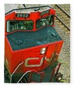 Cn Train Cab Fleece Blanket