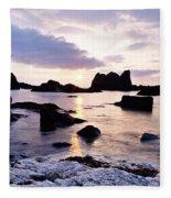 Co Antrim, Whitepark Bay, Ballintoy Fleece Blanket