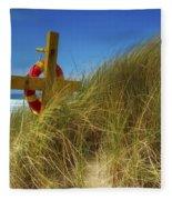 Co Down, Ireland Lifebelt Fleece Blanket