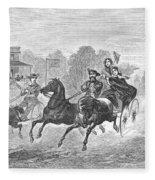 Coaching, 1860 Fleece Blanket