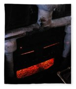 Coal Burner Face Fleece Blanket