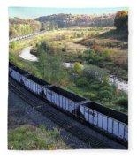 Coal Train - Johnstown  Fleece Blanket