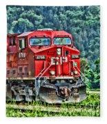Coal Train Hdr Fleece Blanket