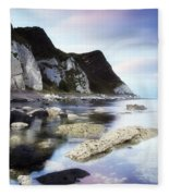 Coast Between Carnlough & Waterfoot, Co Fleece Blanket