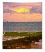 Coastal Climate Fleece Blanket