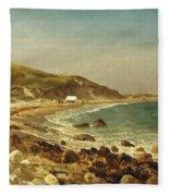 Coastal Scene Fleece Blanket