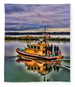 Coastguard Hdr Fleece Blanket